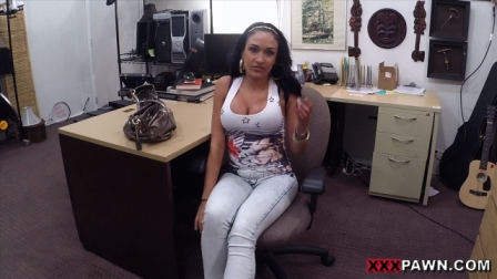 Big titty Latina is a slut for some cash2