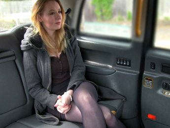 Faketaxi – Hot babe in heels with big natural tits