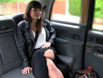 Faketaxi – Brunette does anal down to the balls