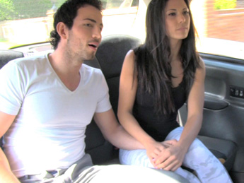 Faketaxi - Spanish couple have hot sex in back of taxi