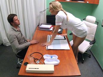 Fakehospital – Nurse helps stud get an erection