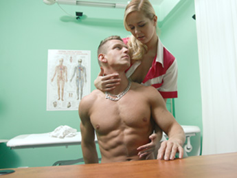 Fakehospital – Stud cums all over nurses stomach