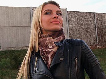 Publicagent - Tall blonde fucks for money