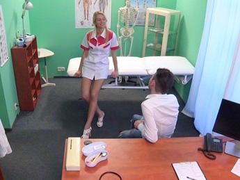 Fakehospital – Studs cock makes sexy nurse cum