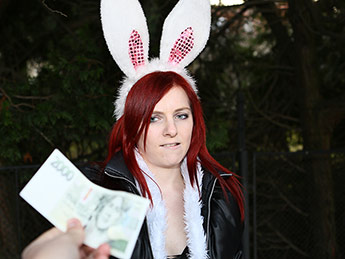 Publicagent – Hot Easter bunny girl fucked outside