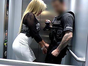 Policeman Escorts MILF Home for Sex