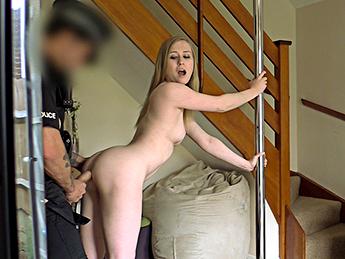 Pole Dance Slut Fucks Uniformed Cop