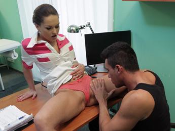 Kinky Nurse Helps Patient Ejaculate