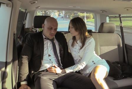 Fuckedintraffic – Slutty bitch Meggie Marika getting rammed on the backseat of the car