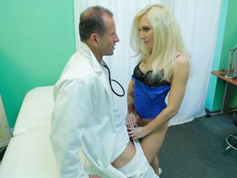 Tattooed Blonde Loves Doctors Dick