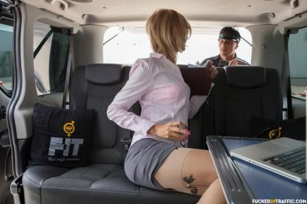 Fucked In Traffic – Hardcore public car fuck with slutty Czech blondie