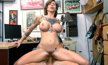 Xxx Pawn – Tattooed Harlow gets needled and inked