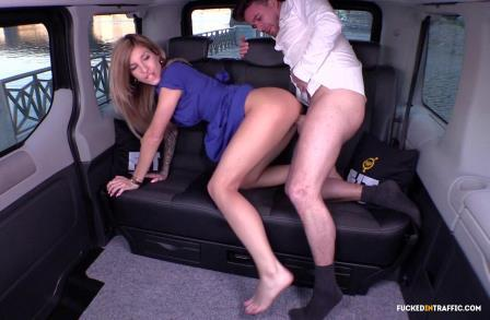 Fucked In Traffic – Czech blondie passionately fucks her sexy cabbie