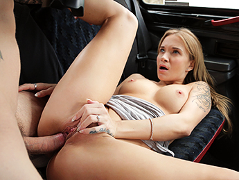 FemaleFakeTaxi Tourist Pays Taxi Fare with Cum