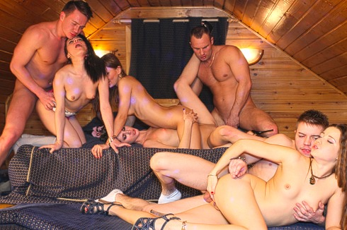 StudentSexParties Playing mafia game with horny college girls