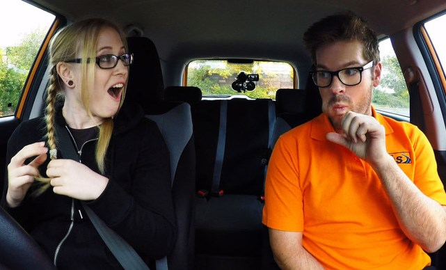 Fake Driving School Giggly Marketing Student Creampie