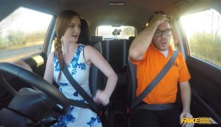 FakeDrivingSchool Posh Redhead Has a Dirty Secret