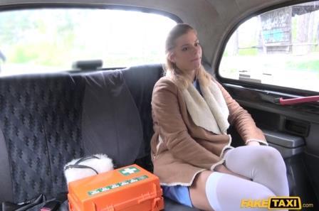 FakeTaxi Nurse in Sexy Lingerie has Car Sex