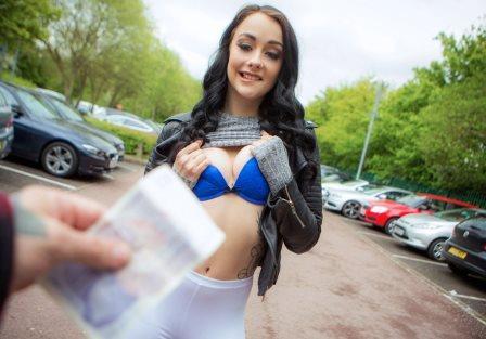Public Pick Ups Cute British Chick Needs Cash