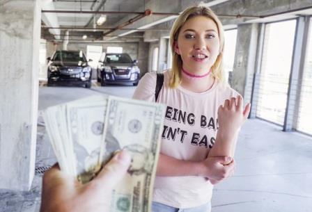 Public Pick Ups Saucy Blonde Fucks for Money
