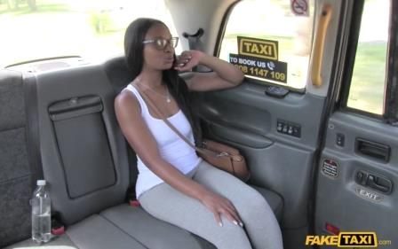 Fake Taxi Ebony Babe Squirts and Piss in Taxi