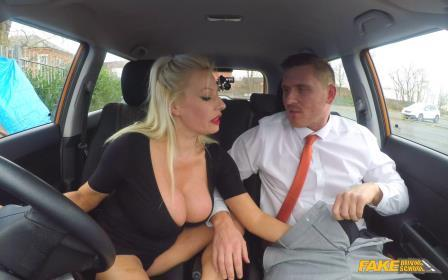 FakeDrivingSchool Huge Tits MILF Pass After Creampie
