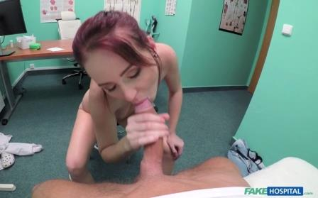 Fake Hospital Thick dick stretches shaven pussy