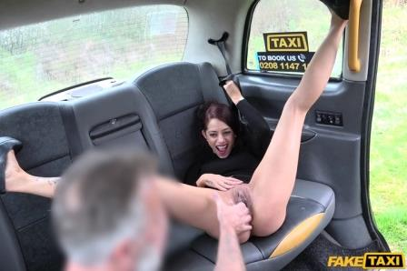 Fake taxi Lady tries deepthroating big cock