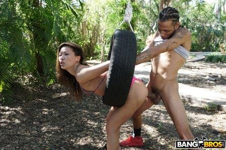 Bangbros Kalina Ryu Takes on a Monster Cock