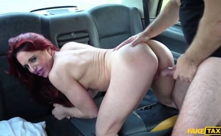 FakeTaxi Personal trainer in wild taxi fuck