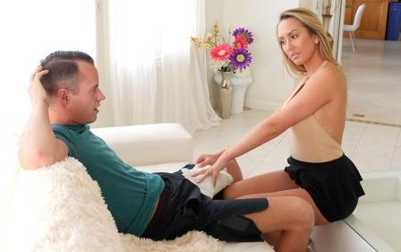 SpyFam Horny Stepmom Massages Stepson's Huge Cock