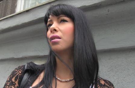 Public Agent Black haired babe fucks stranger for cash