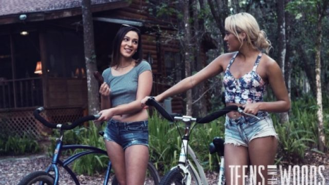 Teens In The Woods Jaye Summers and Marina Angel
