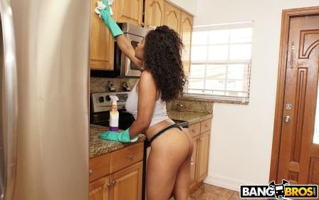 Bangbros Cleaning Around In Sexy Underwear Is Dangerous