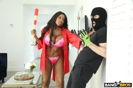 Bangbros Diamond Jackson Protects Her Home