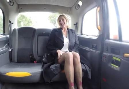 FakeTaxi Older lady's big pussy lips opened