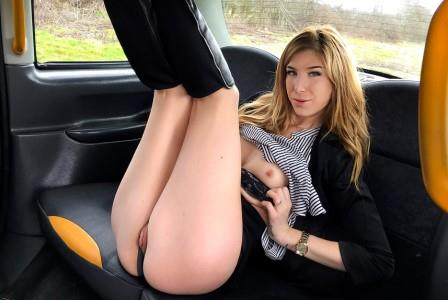 Faketaxi Brunette takes deep anal cock