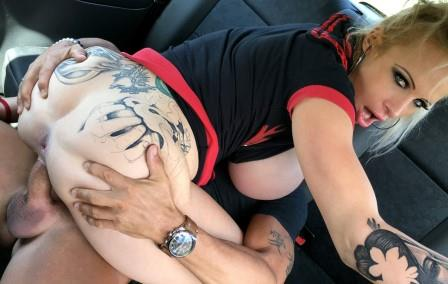FakeTaxi Busty dirty talking squirting MILF