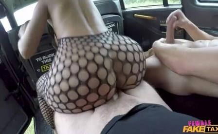 FemaleFakeTaxi Two guys give her loud orgasms