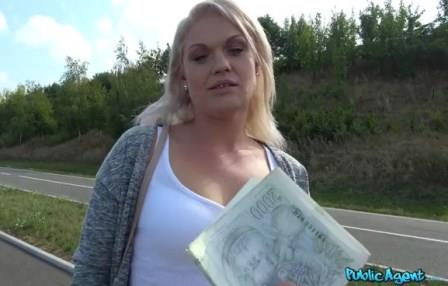Public Agent Sexy blondes public car bonnet fuck