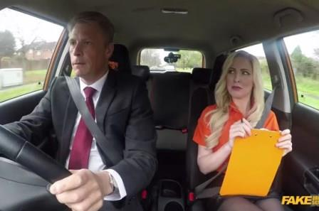 FakeDrivingSchool Mature guy fucks blonde bombshell