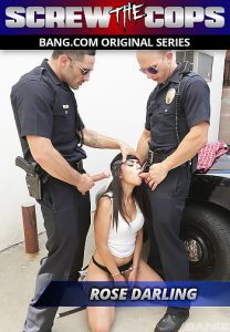 Screw The Cops Rose Darling Gets Double Teamed By Two Cops Against Their Patrol Car