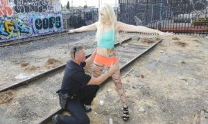 Screw The Cops Skylar Madison Avoids Arrest By Double Teaming Two Cops