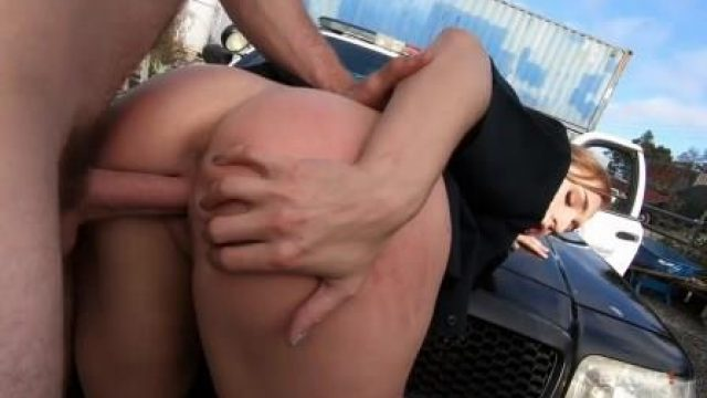 Screw The Cops Skylar Snow Captures A Criminal And Squirts All Over Her Police Cruiser