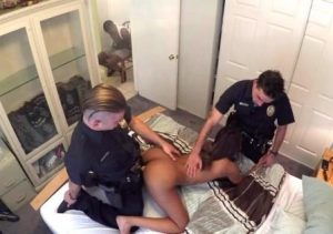 Screw The Cops Zoey Reyes Fucked By Two Officers While Her Restrained Boyfriend Watches