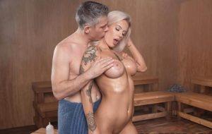 Baby Got Boobs Getting Hot In The Sauna