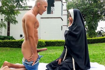 Bangbros Clips Dirty Nun Fucks The Gardener