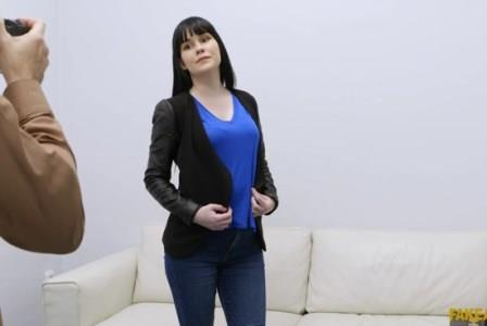 Fake Agent Perky tits shy amateur casting