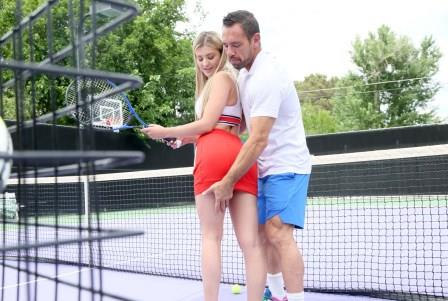 SpyFam Stepbro Gives Tennis Lesson To Horny Stepsis