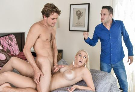 Family Strokes Blonde Hair Blue Eyes Tight MILF Pussy
